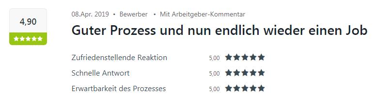 Kununu-Bewertung für Select Sulzfeld