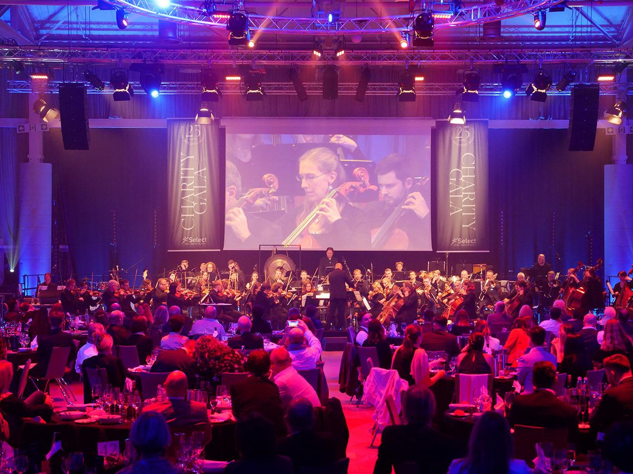 Orchester auf der Charity Gala