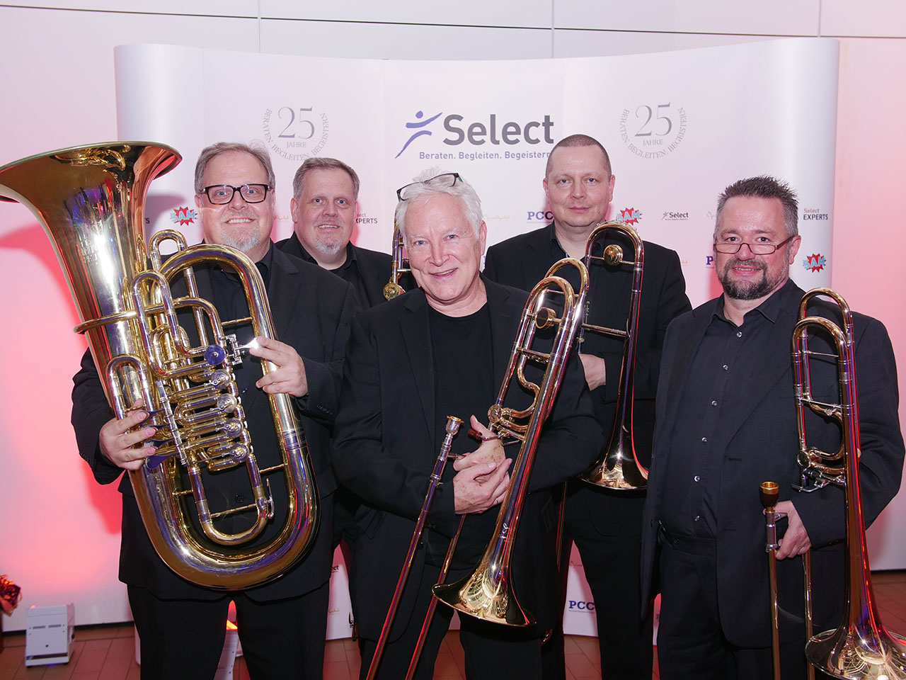Orchester auf der Select Charity Gala