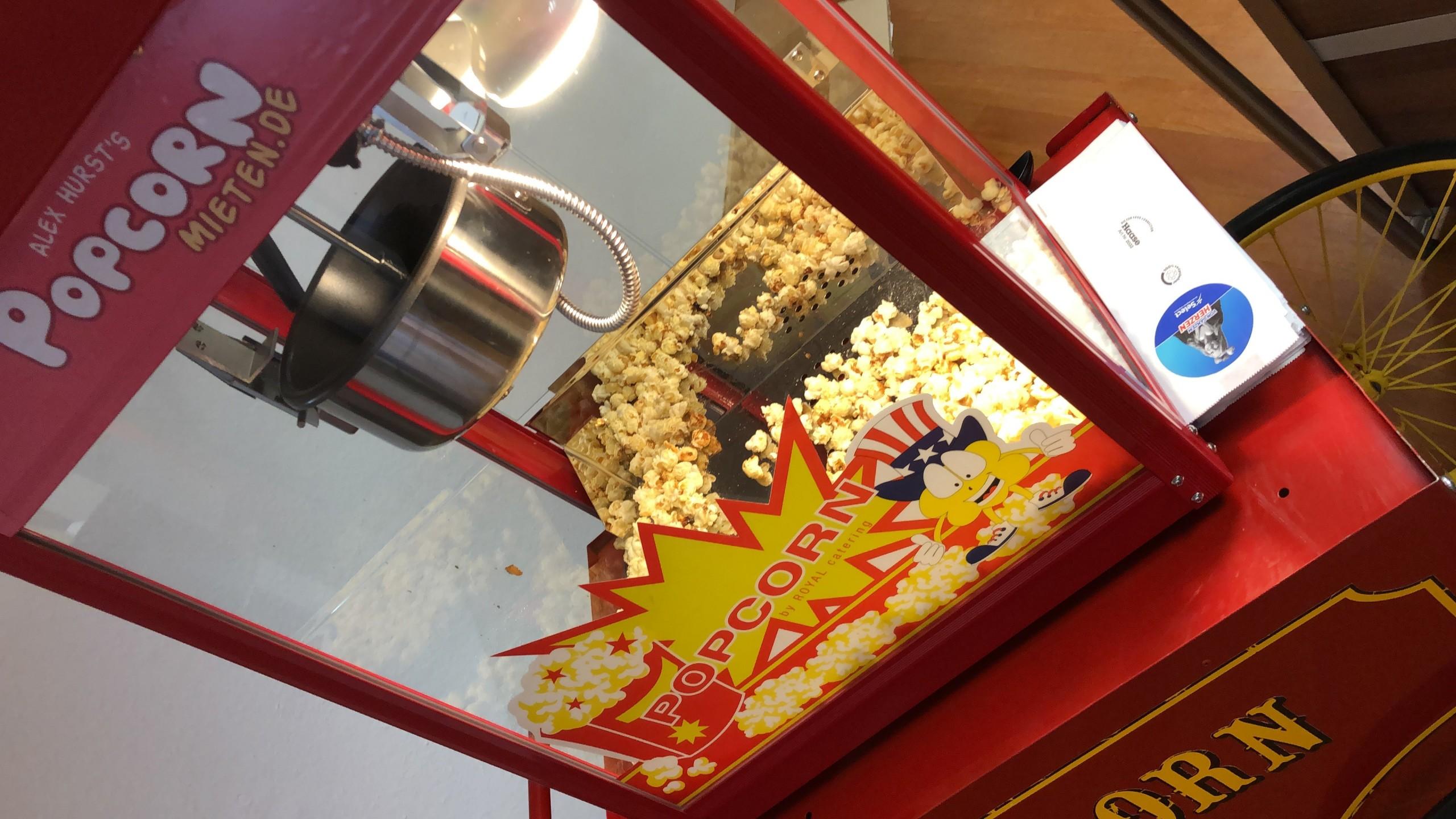 Popcorn-Maschine auf dem SAM-Messestand