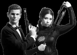 SAM Kampagnenmotov mit James Bons und Katniss