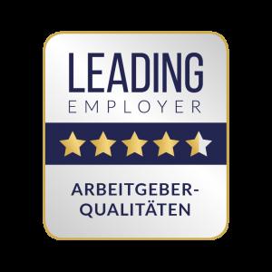 Leading Employer Siegel zur Arbeitgeberqualität