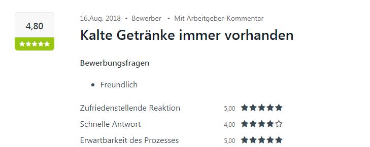 Bewertung für Select Heilbronn auf Kununu