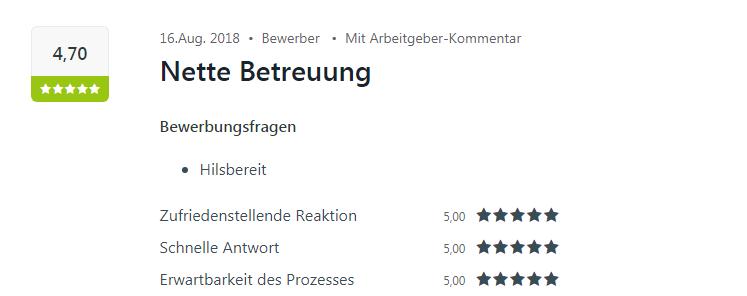 Kununu-Bewertung für Heilbronn