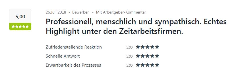 Kununu Bewertung für die Select Niederlassung in Karlsruhe.