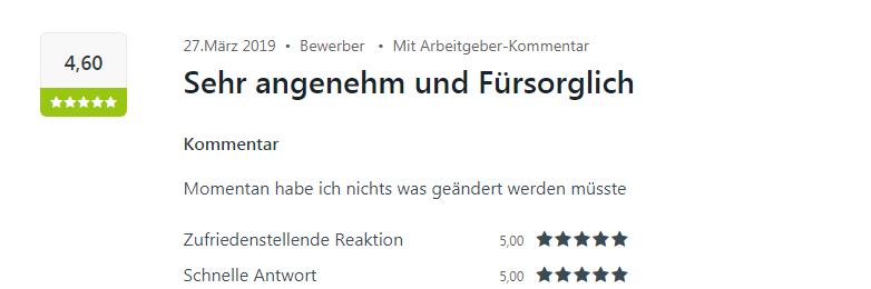 Kununu Bewertung für Select in Baden-Baden