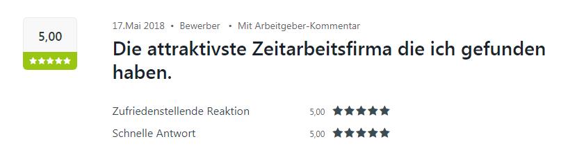 5 Sterne-Bewertung auf Kununu für Select in Baden-Baden