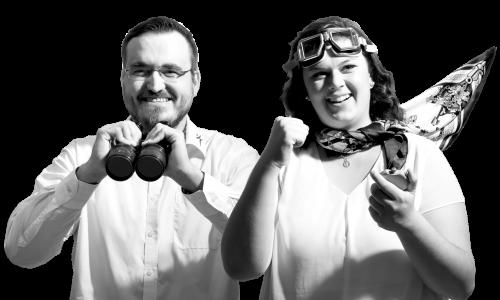 Mann und Frau als erfahrene Mitarbeiter im Vertrieb