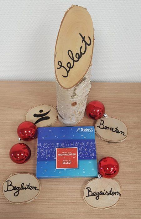 Weihnachtsdeko in der Select Niederlassung Sinsheim