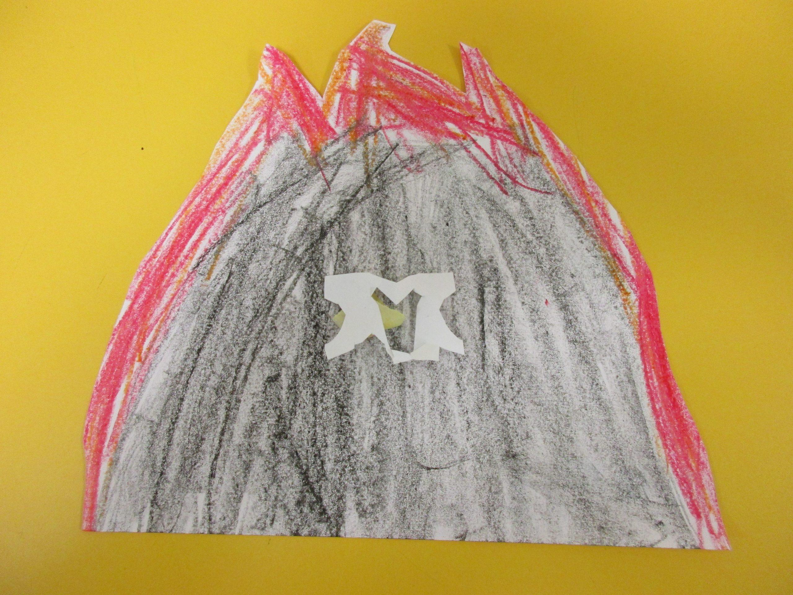 Ergebnis nach der Malstunde im Kindergarten
