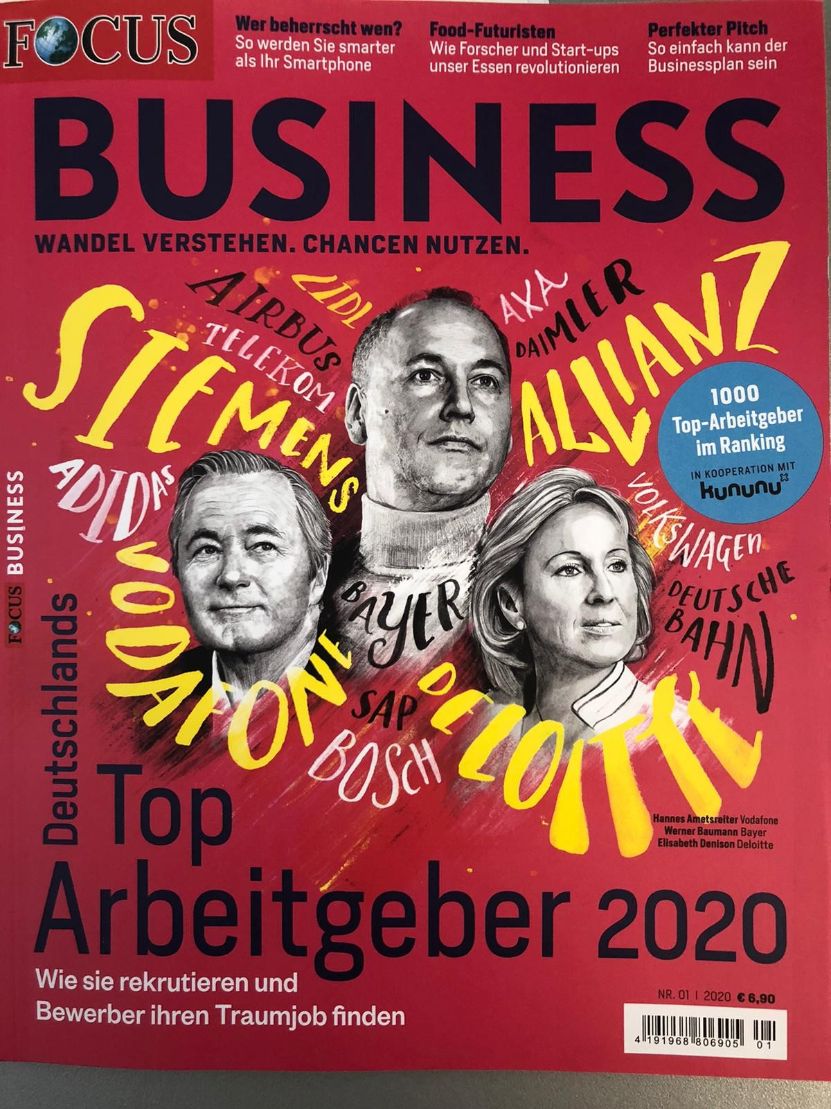 Focus Business zeichnet Select als Top-Arbeitgeber aus