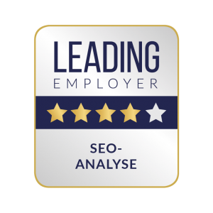 Leading Employer Siegel zur SEO-Analyse