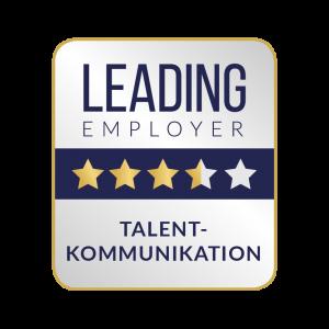 Leading Employer Siegel zur Talent-Kommunikation