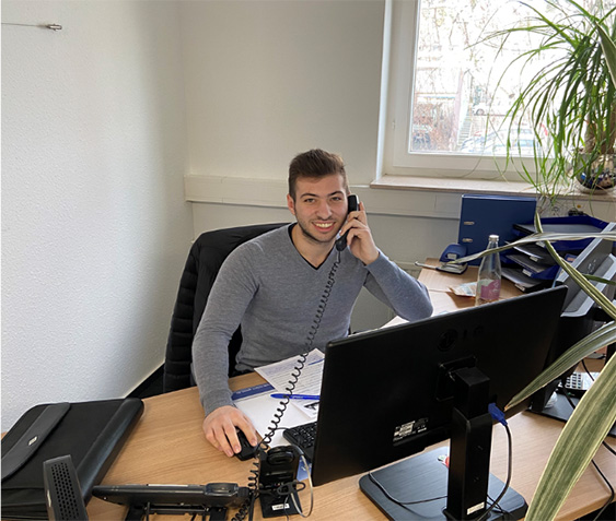 Francesco bei der Arbeit