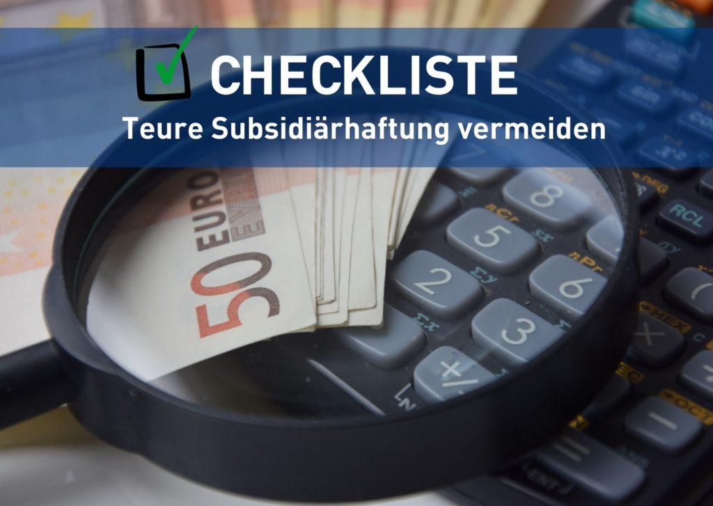 Subsidiärhaftung vermeiden spart Geld